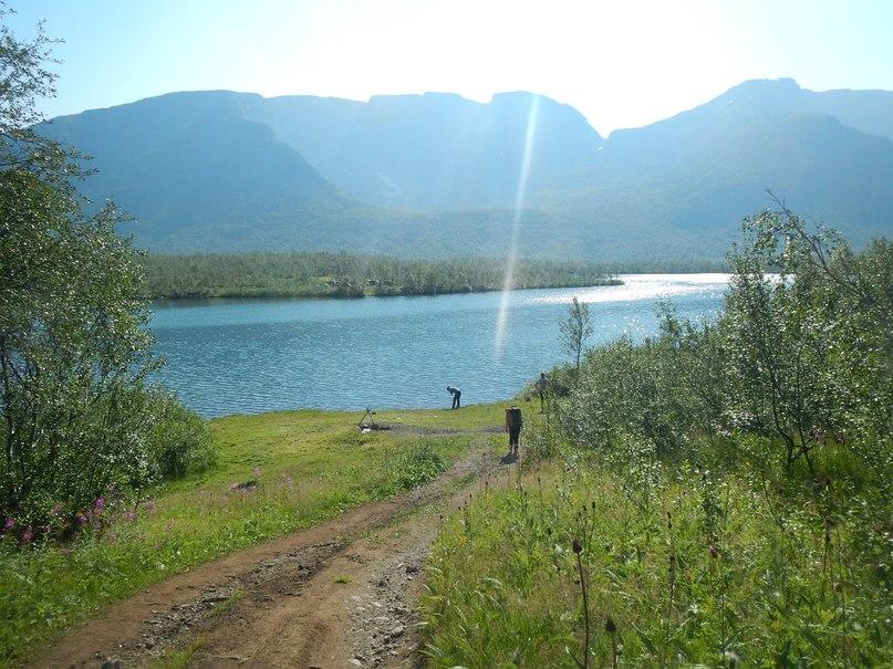 стоянка на озере Малый Вудьявр